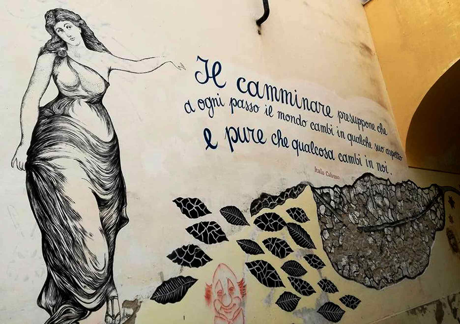 un murales sul camminare - photo by Francesca Shissandra