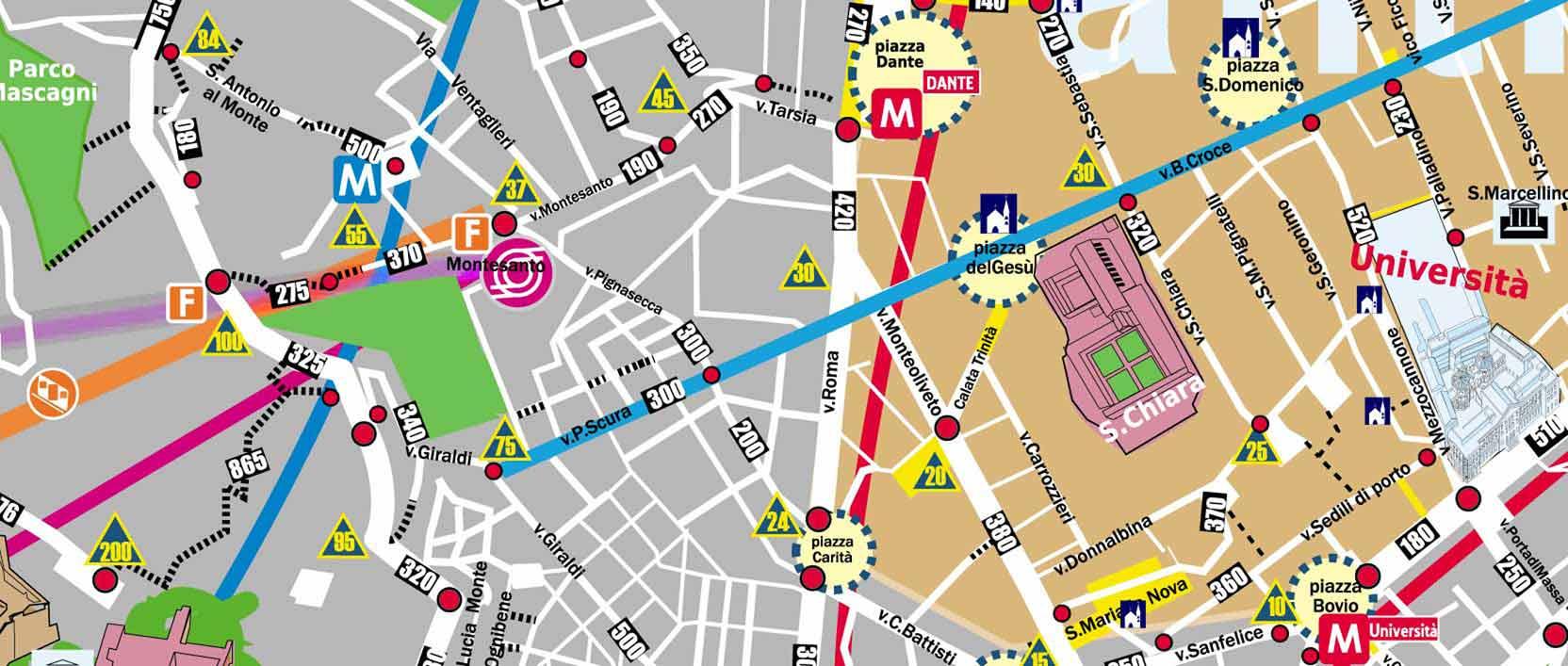Cartina Napoli Pdf.Napoli Mappa A Passi Della Citta